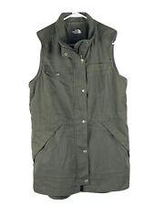 The North Face Vest Army Green Vest Women's Medium EUC