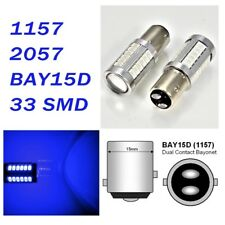 Blue Parking Light 1157 2357 3496 7528 BAY15D 33 SMD LED Bulb A1 For Acura L