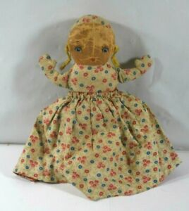 ONE LATE 1800'S CLOTH DOLL 2 DOLLS IN ONE FOUND IN OCCUPIED ATTIC WITH ROSARY
