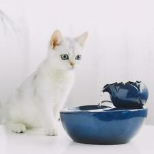 Ceramic Pet Cat Dog Automatic Circulating Water Dispenser Fountain Basin Drinker