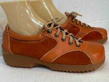 Nos Vtg 1970s Shoe Delmar Rust Suede Leather Platform Oxford Size 8 Romania