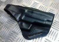 Genuine British Military / Police Leather Pancake Gun Holster Blackhawk Sig