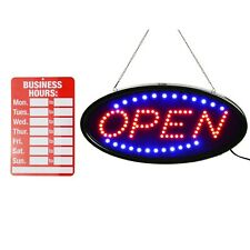 Open Led Sign, Led Business Open Sign Incluya El Horario Comercial Sign Adver.