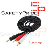 Cable Audio Estereo Mini Jack 3.5mm macho a 2 RCA macho 3 Metros MiniJack 2RCA