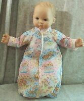 "Doll Clothes Baby Made 2 Fit American Girl 15"" in Sleeper Sack Bears Birds Pink"
