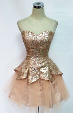 MASQUERADE Champagne Homecoming Party Dress 5 -$120 NWT