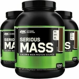 ON OPTIMUM NUTRITION SERIOUS MASS GAINER MUSCLE PROTEIN POWDER 2.7KG CHOCOLATE