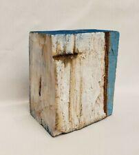 No.876 Original Abstract Modern Minimal Wood Block Painting By K.A.Davis