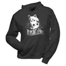 KapuzenSweatshirt  Hund Wolf Motiv druck Kapuzenpullover Hoodie Pulli T-Shirt