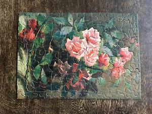 Top Notch Jig Puzzles No. P.28 Roses Picture Puzzle Sam'l Gabriel Sons & Company