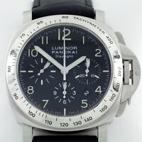 Panerai Luminor Daylight Chronograph Men's Stainless Steel Watch OP 6637