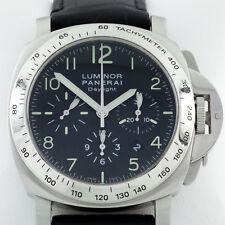 Panerai Luminor Daylight Chronograph Men's Stainless Steel Watch OP 6637