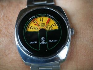 "Yema Jump Hour ""Digital"" watch, vintage"
