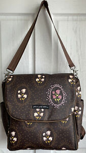 NEW Petunia Pickle Bottom Brown Pink Floral Boxy Backpack Diaper Bag