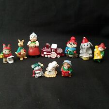 10 Christmas Merry Miniatures 1988,1989,1990