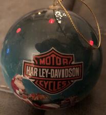 Harley Davidson Motorcycle Christmas Ornament 2011 Blinking Lights Santa