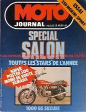 MOTO JOURNAL  332 Poster Géant YAMAHA SR 500 ; MORINI 350 « Spécial SALON » 1978
