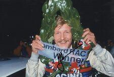 Rally Driver Juha Kankkunen Hand Signed Photo 12x8 8