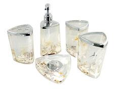 Decorative Beach Seashell Starfish Ocean style Acrylic Bathroom Accessory Set