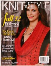 KNIT  'n STYLE Magazine OCT12 REAL FASHION for REAL KNITTERS Mitered Squares