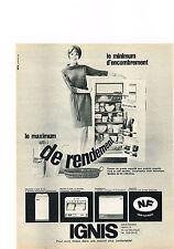 PUBLICITE  1967   IGNIS   machine à laver lave vaisselle  éléctroménage  r020413