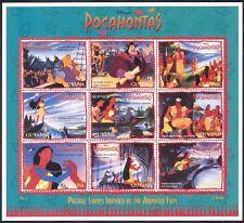 Guyana 1995 Disney/Pocahontas/Animation 9v sht (b431)