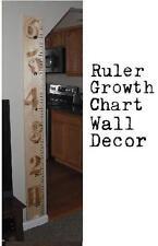 Wooden Ruler Growth Chart  6 foot long