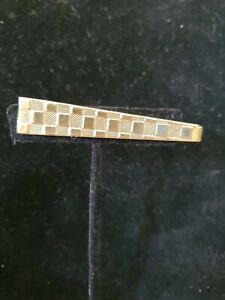 Gold tone/brass Checkboard Tie Clip