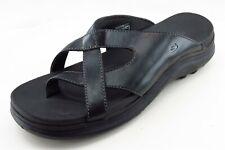Skechers Size 8 M Black Flip Flop Leather Women Sandal Shoes