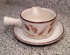 MIDWINTER England WILD OATS Pattern GRAVY BOAT + UNDERPLATE Excellent Condition
