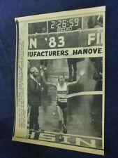 1983 Grete Waitz New York City Marathon finish line Vintage Wire Press Photo