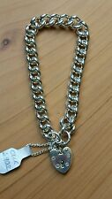 Beautiful, Heavy & Solid Sterling Silver Traditional Charm Bracelet. New in Box