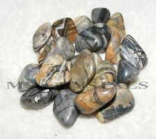 15 x Picasso Stone Tumblestones A Grade Crystal 14mm to 16mm Bulk Wholesale