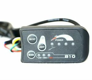 Electric Bicycle Led Display 810 Control Panel 3 Assist Light Indicate Power