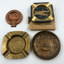 4 1934 World's Fair Century of Progress Ashtrays Sky Ride Plymouth Dodge Armour