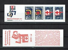 "NETHERLANDS / NIEDERLANDE BOOKLET 1987 PB36 mnh ""RED CROSS"" E137g"