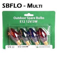 Spare Bulbs Garden Lights  - Pack of 4 Multi Coloured E12 12V/3W 30002