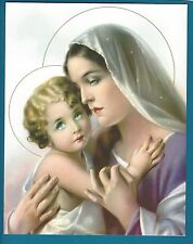 "Catholic Print Picture Blessed Virgin Mary and Child Jesus 8x10"" ready to frame"
