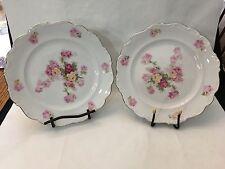 Schuman Bavaria E & R Victorian Rose Pattern Round Plates Set of 2