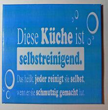 Dekofliese Bildfliese Wandfliese Geschenkidee Selbstreinigende Küche ... (049DP)