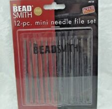 Beadsmith NEEDLE FILE SET PMC Art Clay Silver Tools 12 Fine Metal 4 inch NF738