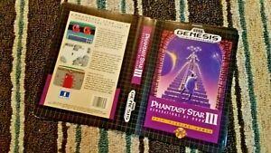 BOX ART ONLY Phantasy Star III 3 Original Sega Genesis Case Sleeve