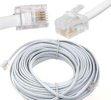 2m 3m 5m 10m 15m 20m 25m Meter RJ11 To RJ11 Cable ADSL Phone Line Broadband Lead