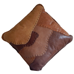 Hand Made Leather Seat Cushion By South African Artist Simon Law