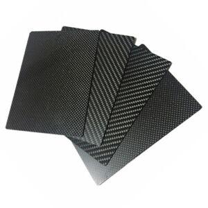 100% 3K Carbon Fiber Plate Panel Sheet Plain Weave Glossy 200x300mm or 200x250mm