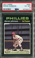 1971 Topps #490 Deron Johnson PSA 6 EX-MT
