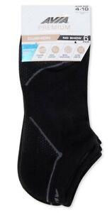 Avia Women's 6 Pair Premium Cushion No Show Socks. Shoe Size 4-10. NEW!!