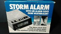 STORM ALARM CLOCK MODEL TA-C1 FROM WEATHER ALERT LED SEVERE WEATHER ALARM