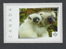 SILKY SIFAKA LEMUR WITH BABY  Canada Picture Postage stamp  p74wa7/3
