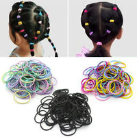 100PCS Elastic Women Girls Hair Band Ties Rope Ring Hairband Ponytail Holder